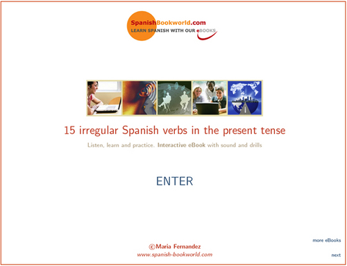 Product picture 15 Irregular Spanish Verbs - Multimedia eBook